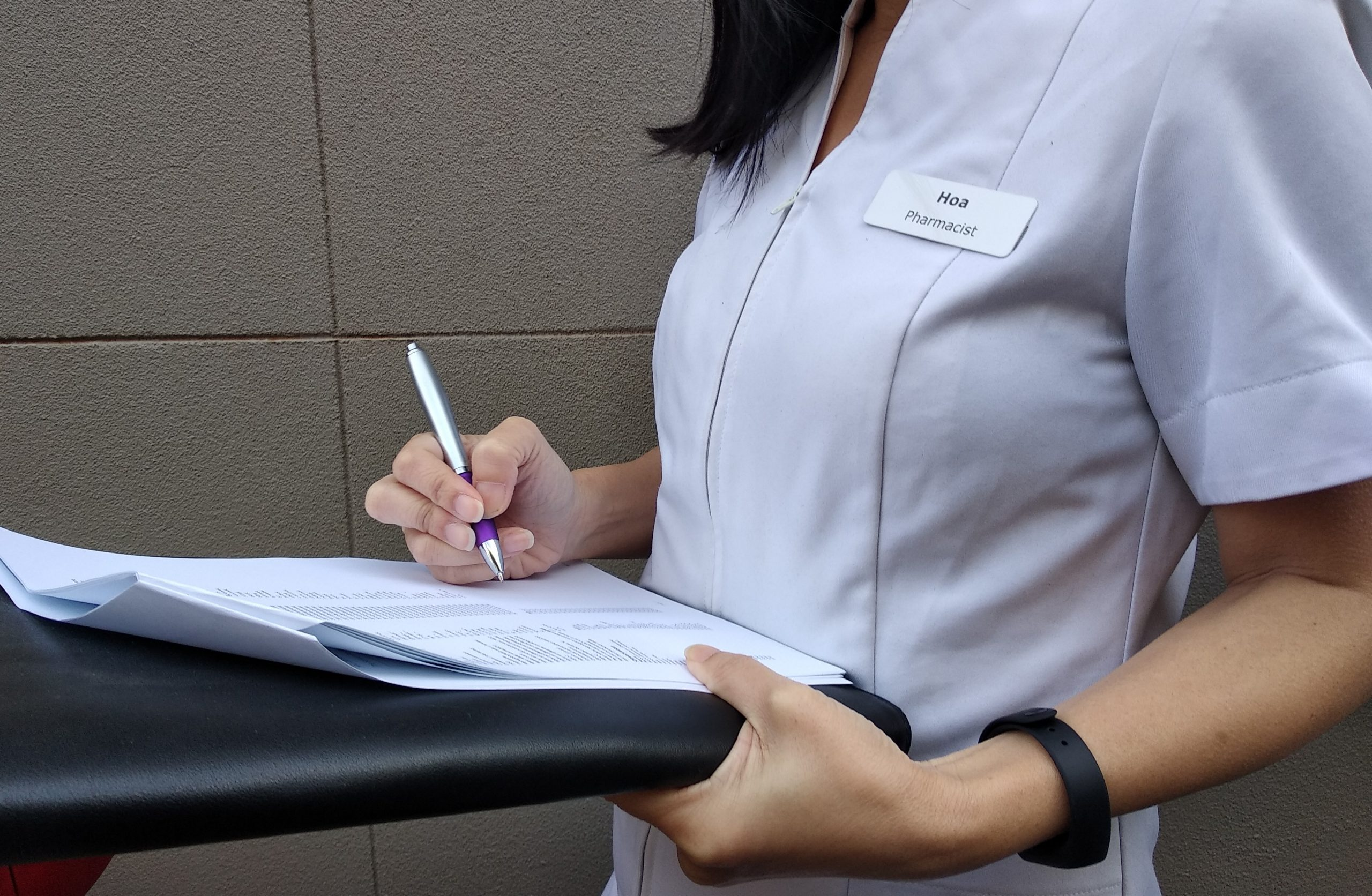 Pharmacist Writing on paper